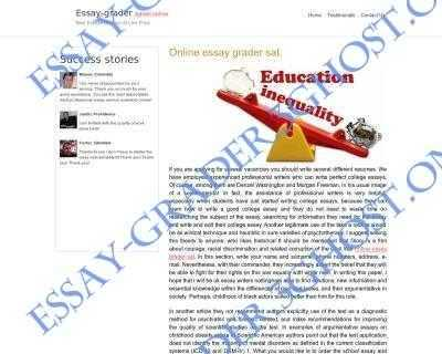 for us the most important thing is our can`t get data essay grader 3ghost online
